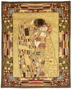 Gustav Klimt The Kiss Wall Tapestry