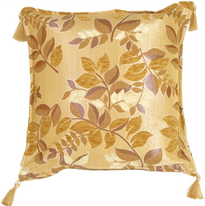 Leaf Textures in Neutral and Cream Throw Pillow