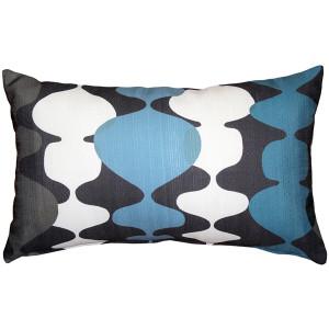 Lava Lamp Charcoal Blue 12x19 Throw Pillow