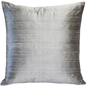 Sankara Silver Silk Throw Pillow 18x18