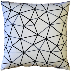 Crossed Lines Cotton Print Throw Pillow 20x20