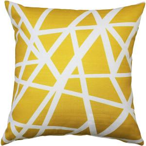 Birds Nest Yellow Throw Pillow 20X20
