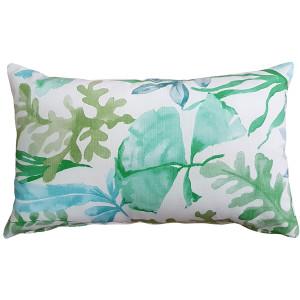 Sea Garden Green Throw Pillow 12X20