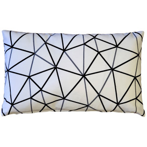 Crossed Lines Cotton Print Throw Pillow 12x20