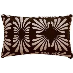Velvet Daisy Black 12x20 Throw Pillow
