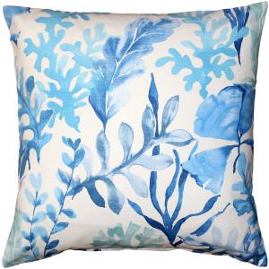 Sea Garden Blue Throw Pillow 20X20