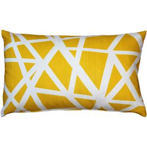 Birds Nest Yellow Throw Pillow 12x19