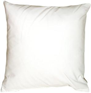 Caravan Cotton White 23x23 Throw Pillow