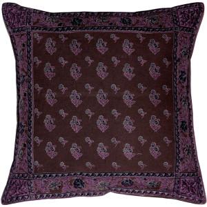 Somerset Downs Purple Cotton Throw Pillow 16x16
