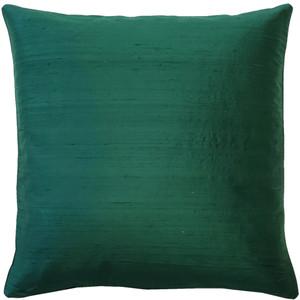 Sankara Forest Green Silk Throw Pillow 16x16 - Pillow Decor
