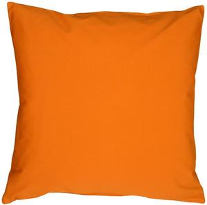 Caravan Cotton Orange 16x16 Throw Pillow