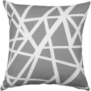 Birds Nest Gray Throw Pillow 20X20