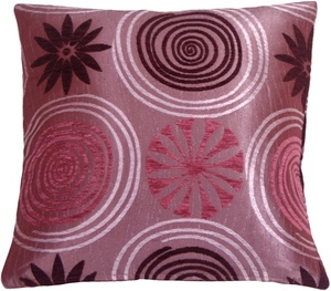 Faria Flower Purple 17x17 Throw Pillow