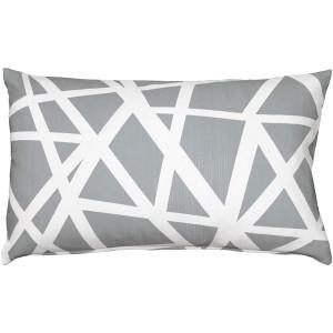Birds Nest Gray Throw Pillow 12x19