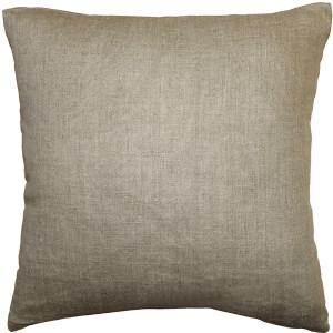 Tuscany Linen Natural 17x17 Throw Pillow