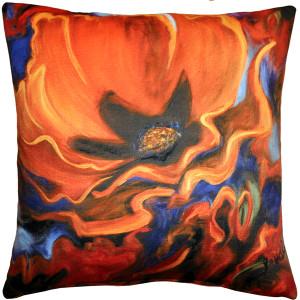Orange Poppy 20x20 Throw Pillow