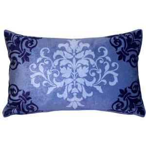 Velvet Damask Purple Throw Pillow 11x18