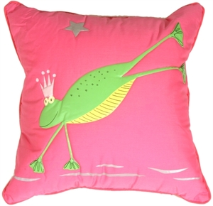 Freddie the  Frog Children's Throw Pillow