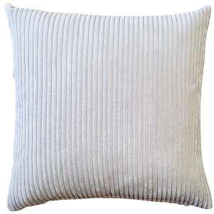 Wide Wale Corduroy 22x22 Oyster Throw Pillow