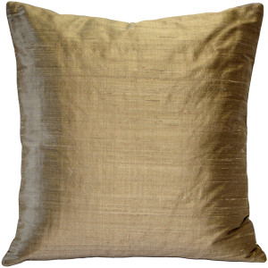 Sankara Gold Silk Throw Pillow 20x20