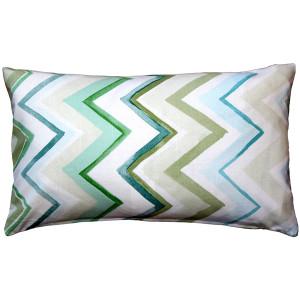 Pacifico Stripes Green Throw Pillow 12X20