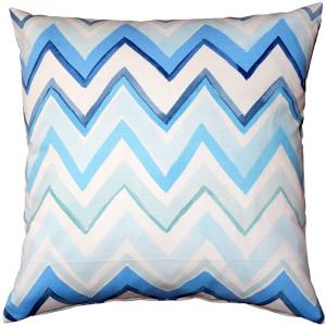 Pacifico Stripes Blue Throw Pillow 20X20
