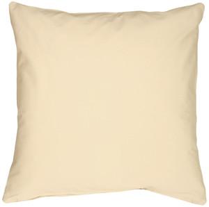 Caravan Cotton Cream 16x16 Throw Pillow