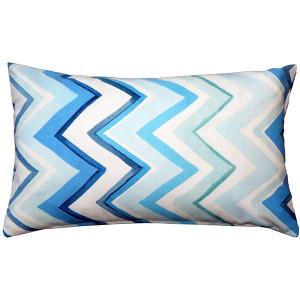 Pacifico Stripes Blue Throw Pillow 12X20