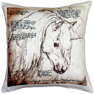 The Love of Horses Mare 17x17 Throw Pillow