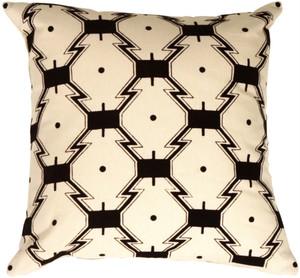 Zigzags on Cream Throw Pillow
