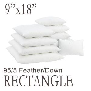 "9""x18"" Rectangular Feather Down Pillow Form"
