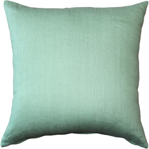 Tuscany Linen Aqua Green 20x20 Throw Pillow