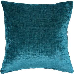 Venetian Velvet Peacock Teal Throw Pillow 20x20