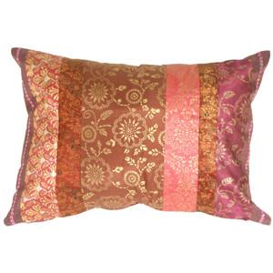 Silk Odyssey Plum Throw Pillow