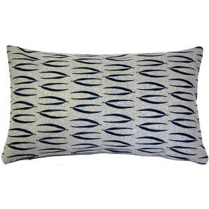 Kukamuka Eka Blue Throw Pillow 12x19