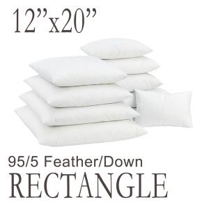 "12""x20"" Rectangular Feather Down Pillow Form"