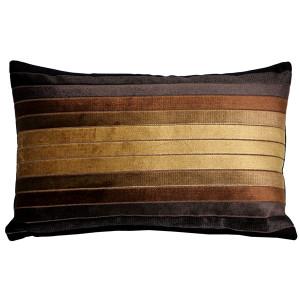 Bullion Stripes Velvet Throw Pillow 12x19