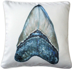 Ponte Vedra Shark's Tooth Throw Pillow 20x20