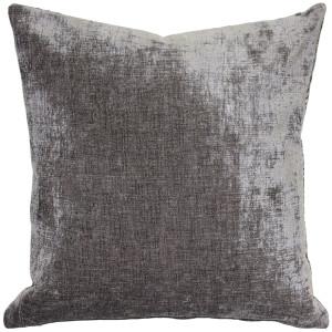 Venetian Velvet Cloud Gray Throw Pillow 20x20