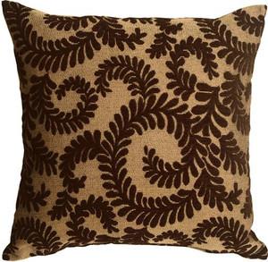 Brackendale Ferns Brown Throw Pillow