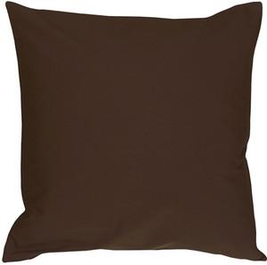 Caravan Cotton Brown 18x18 Throw Pillow