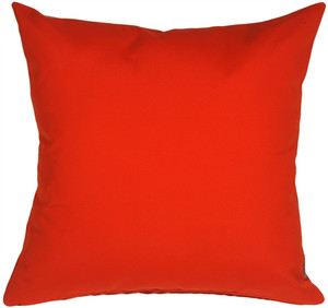 Sunbrella Logo Red 20x20 Outdoor Pillow
