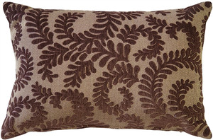 Brackendale Ferns Brown Rectangular Throw Pillow