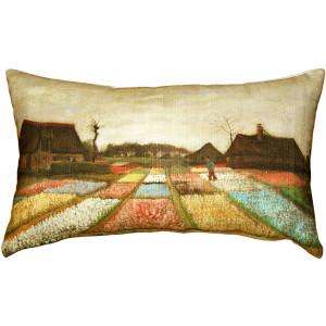 Van Gogh Flower Beds in Holland Throw Pillow