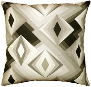 Asscher Cut Throw Pillow 20x20