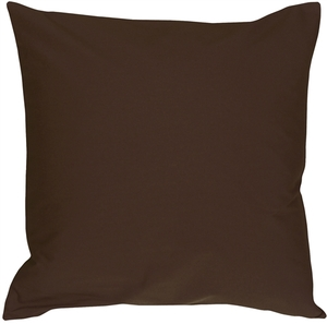 Caravan Cotton Brown 20x20 Throw Pillow