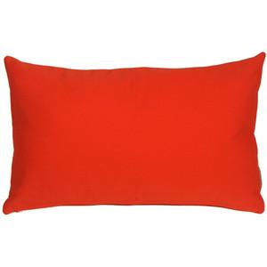 Sunbrella Logo Red 12x19 Outdoor Pillow