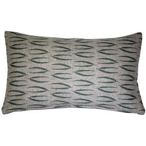 Kukamuka Eka Green Throw Pillow 12x19