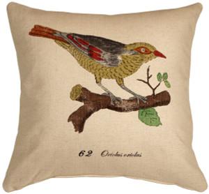 Bird on Branch 20x20 Throw Pillow