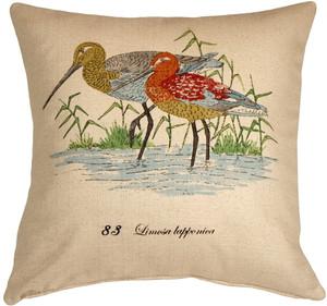 Wading Birds 20x20 Throw Pillow